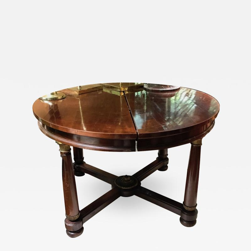 EMPIRE DINING STYLE TABLE WITH BRONZE DETAILS