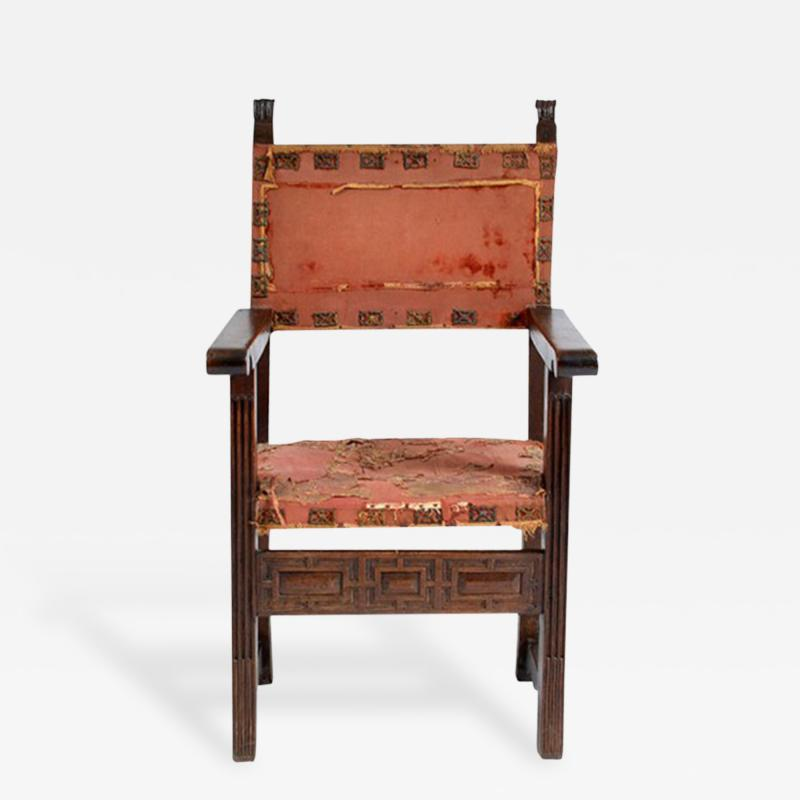 Early 17 18th Century Spanish Walnut Armchair