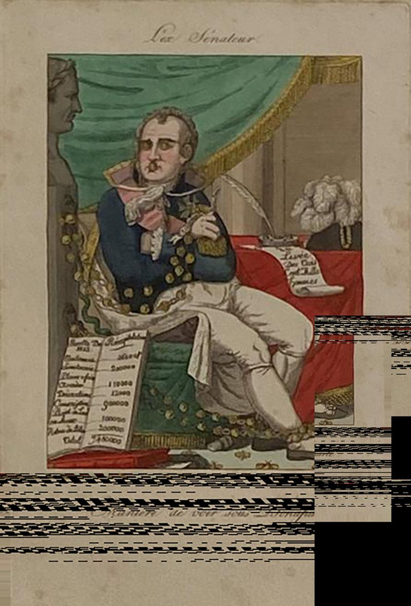 Early 19th Century French Political Engraving
