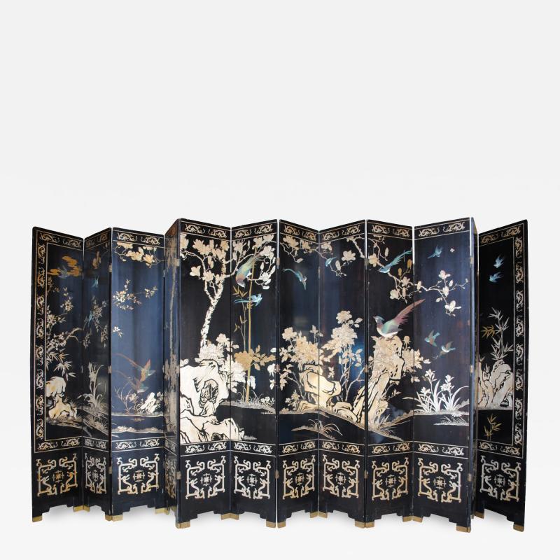 Early 19th Century Manchurian Twelve Panel Screen