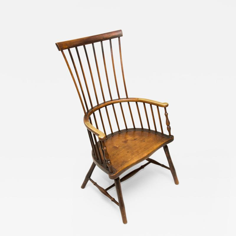 Early 19th Century Scottish Comb Back Windsor Armchair