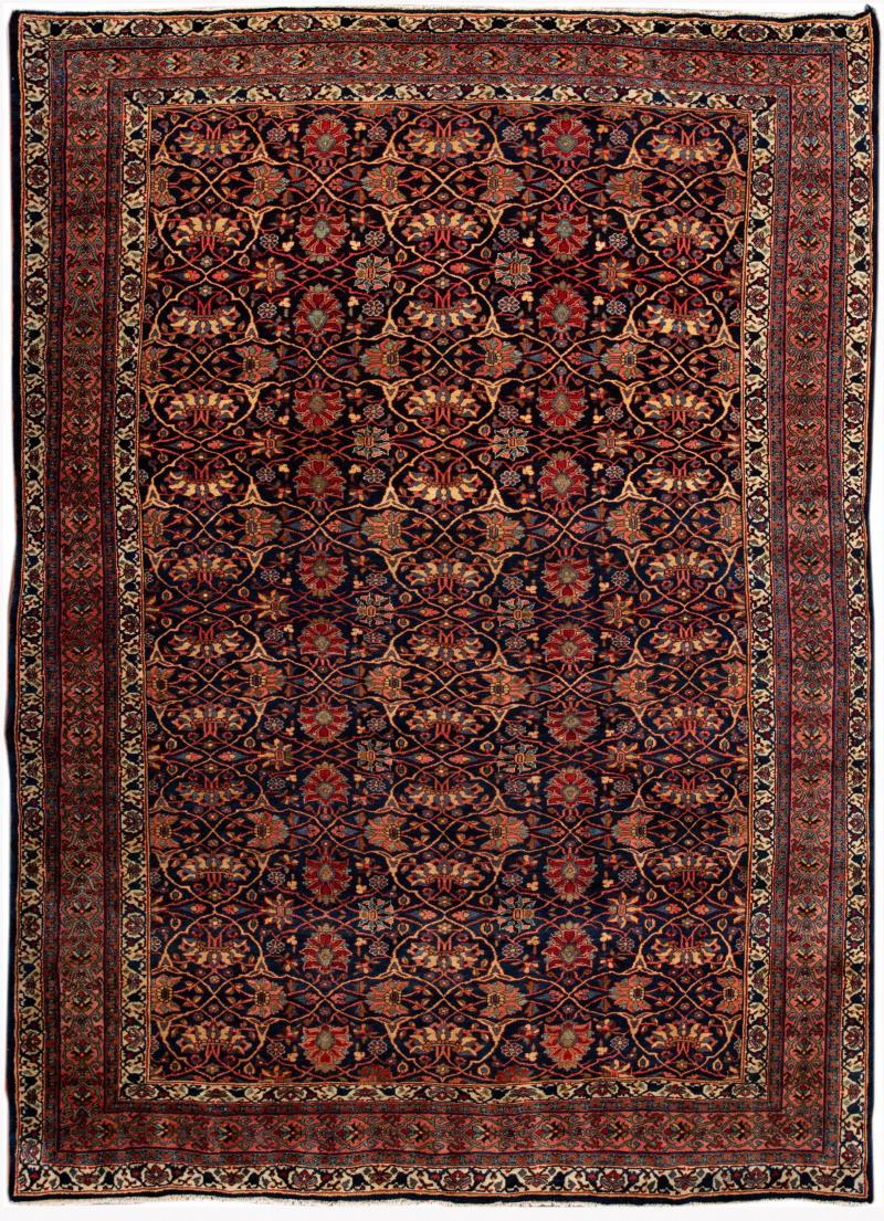 Early 20th Century Antique Bidjar Wool Rug