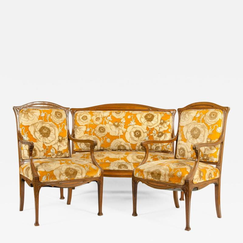 Early 20th Century Louis Majorelle Three Piece Seating Set