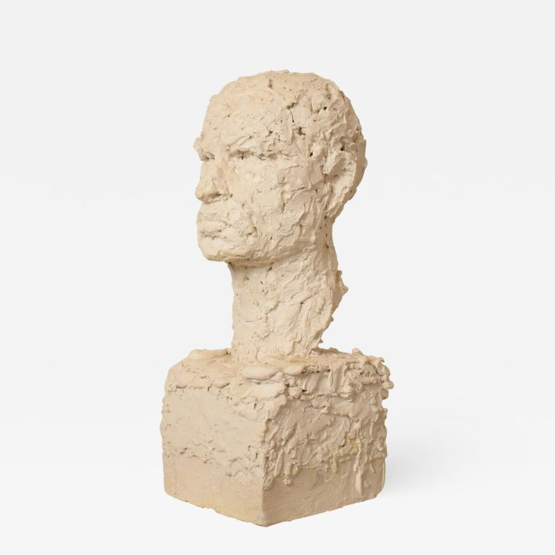 Early 20th Century Plaster Bust of a Man circa 1920