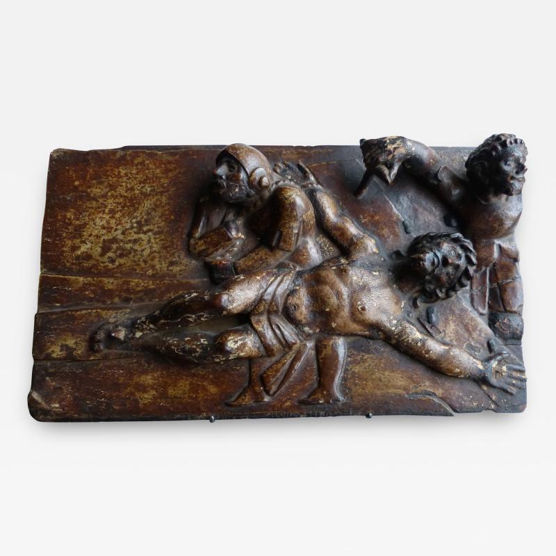 Early Spanish Panel on Chestnut Wood