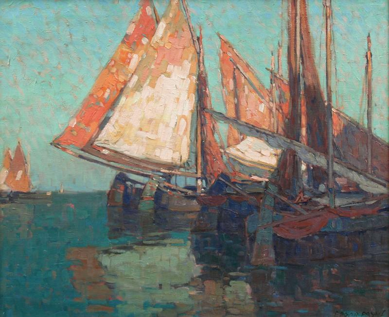 Edgar Alwin Payne Boats of the Adriatic