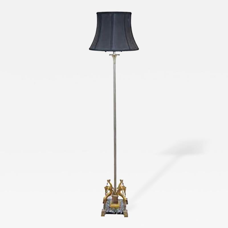 Edgar Brandt Art Deco Floor Lamp in the manner of Edgar Brandt