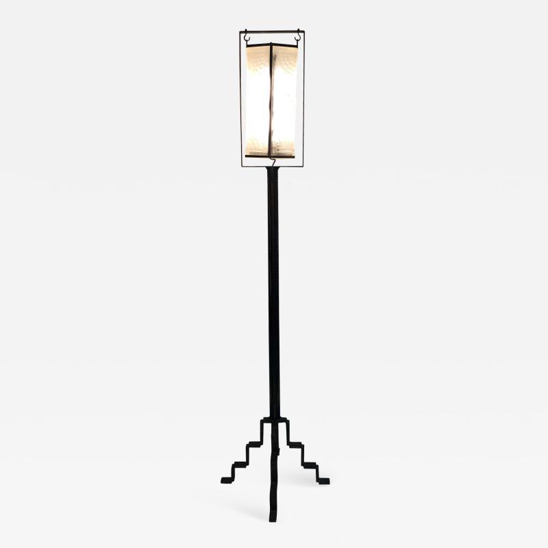 Edgar Brandt Exceptional Edgar Brandt French Art Deco Floor Lamp