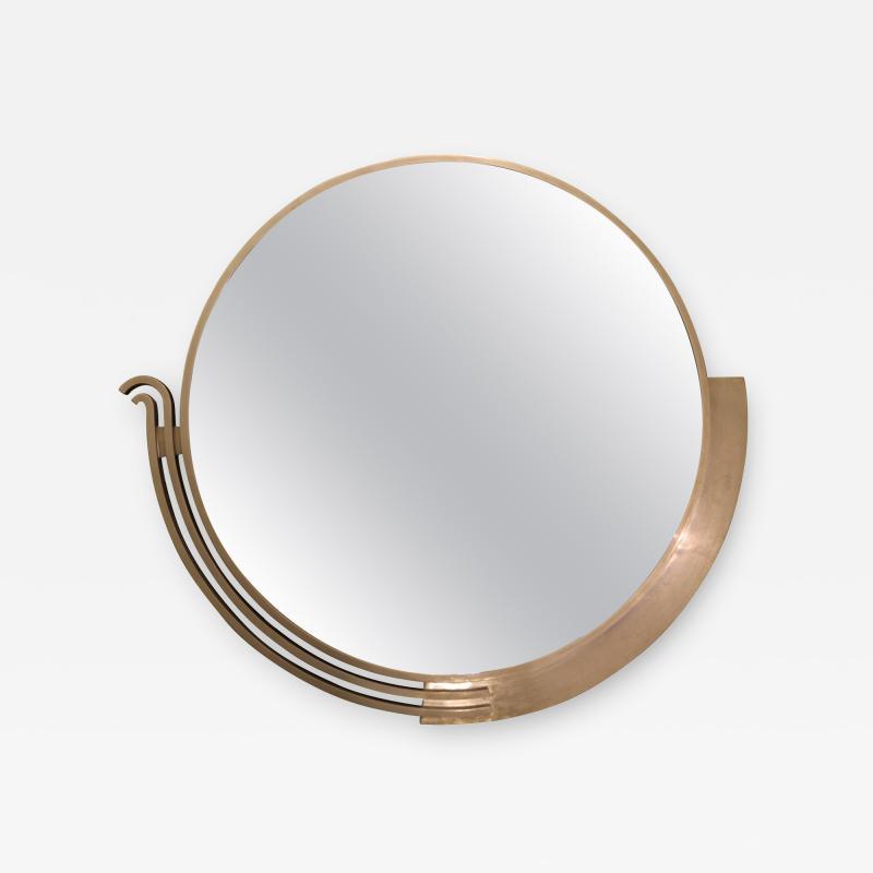 Edgar Brandt Large Modernist Mirror by Edgar Brandt Signed France Art Deco Circa 1930