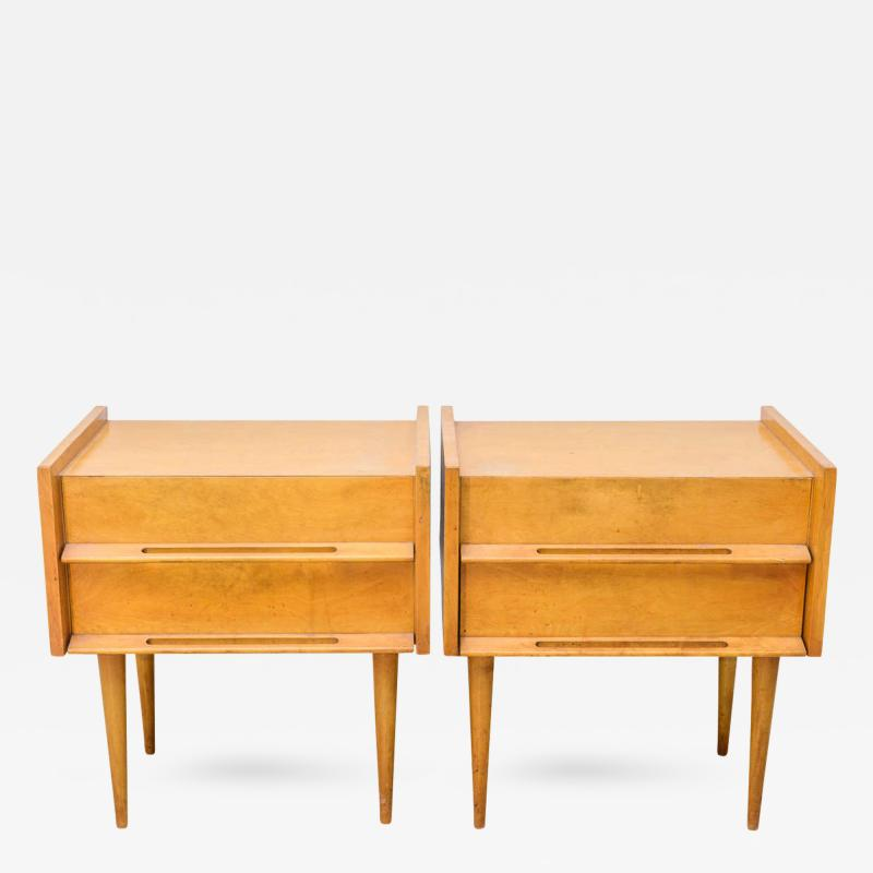 Edmond Spence Pair of American Modern Birch Bedside Cabinets Sir Edmond Spence