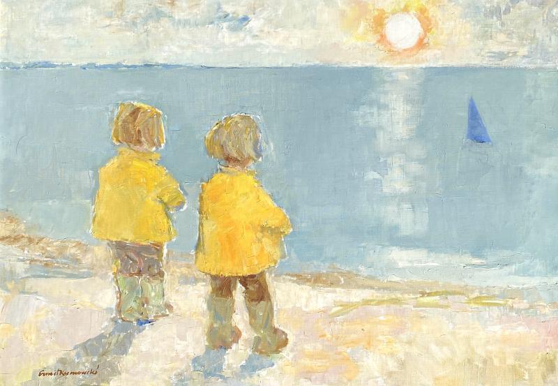 Edmund Ernest Kosmowski The Blue Sailboat