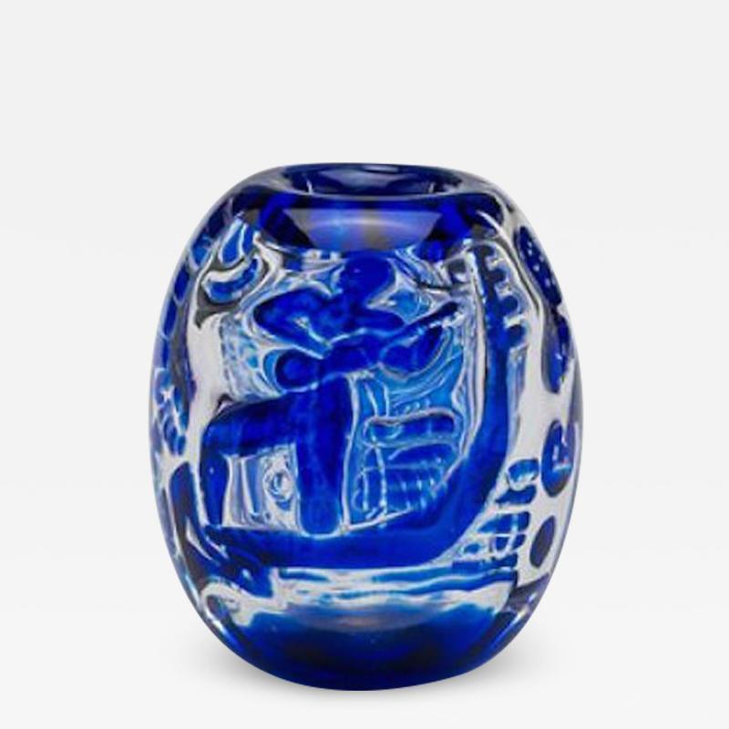 Edvin Ohrstr m Edvin hrstr m Girl and Gondolier Vase