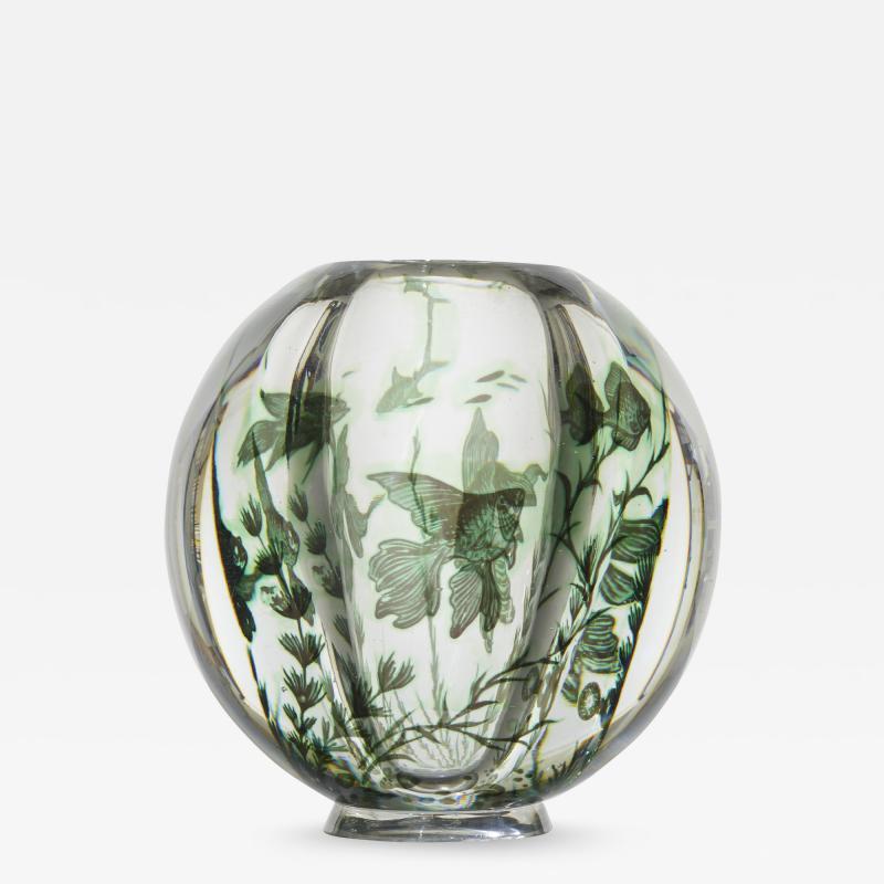 Edward Hald Graal Fish vase