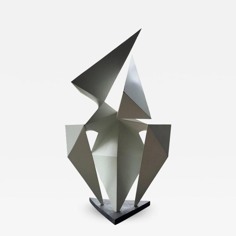 Edward Hart Vintage Abstract Origami Sculpture By Artist