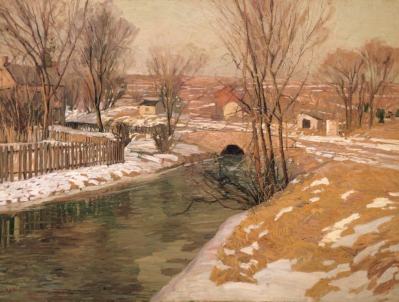 Edward Willis Redfield Melting Snow