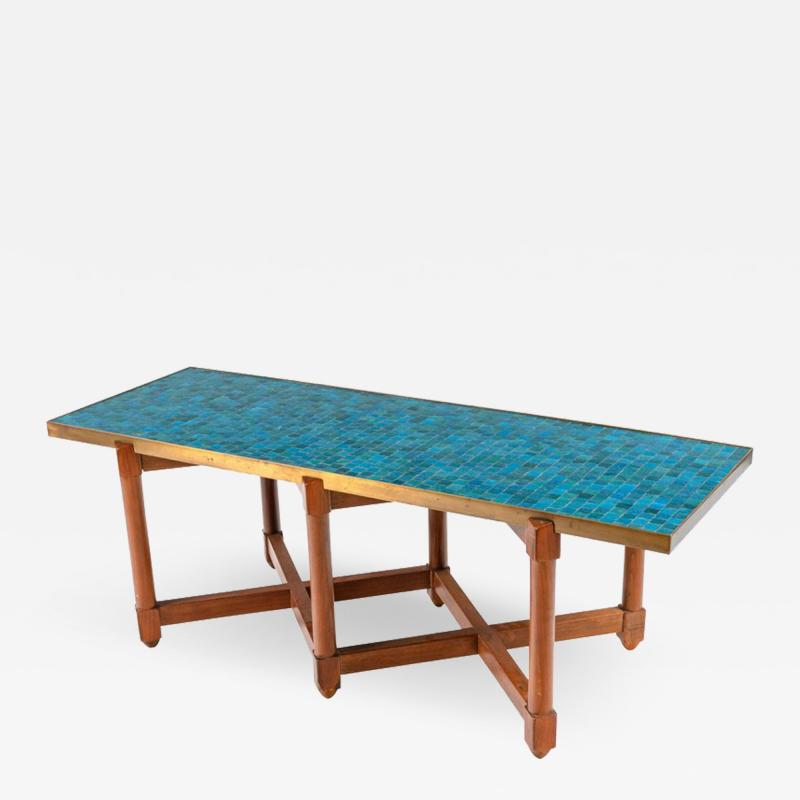 Edward Wormley Dunbar Murano Glass Tile Top Coffee Table by Edward Wormley USA 1950s
