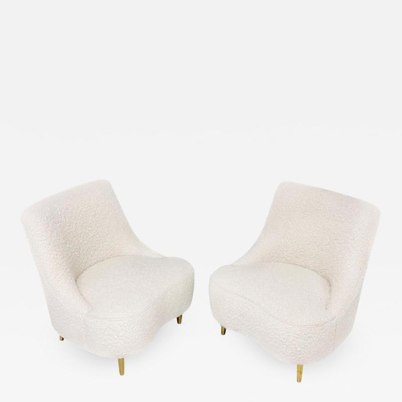 Edward Wormley Dunbar Teardrop Chairs Edward Womley 1950 s