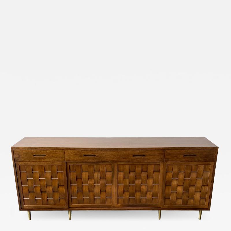 Edward Wormley Dunbar Woven Front Sideboard Cabinet by Edward Wormley