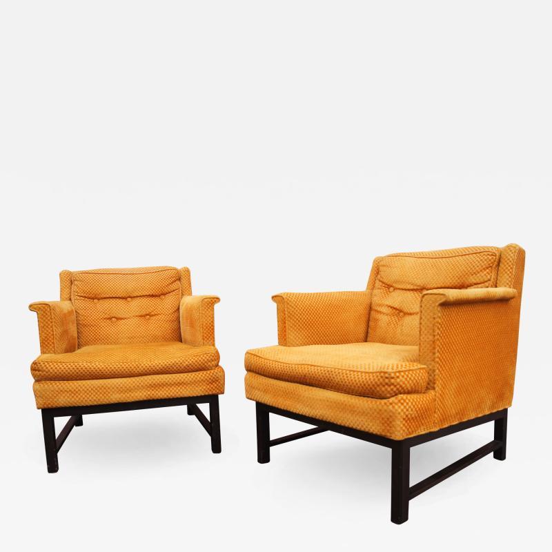 Edward Wormley Dunbar pair of arm chairs