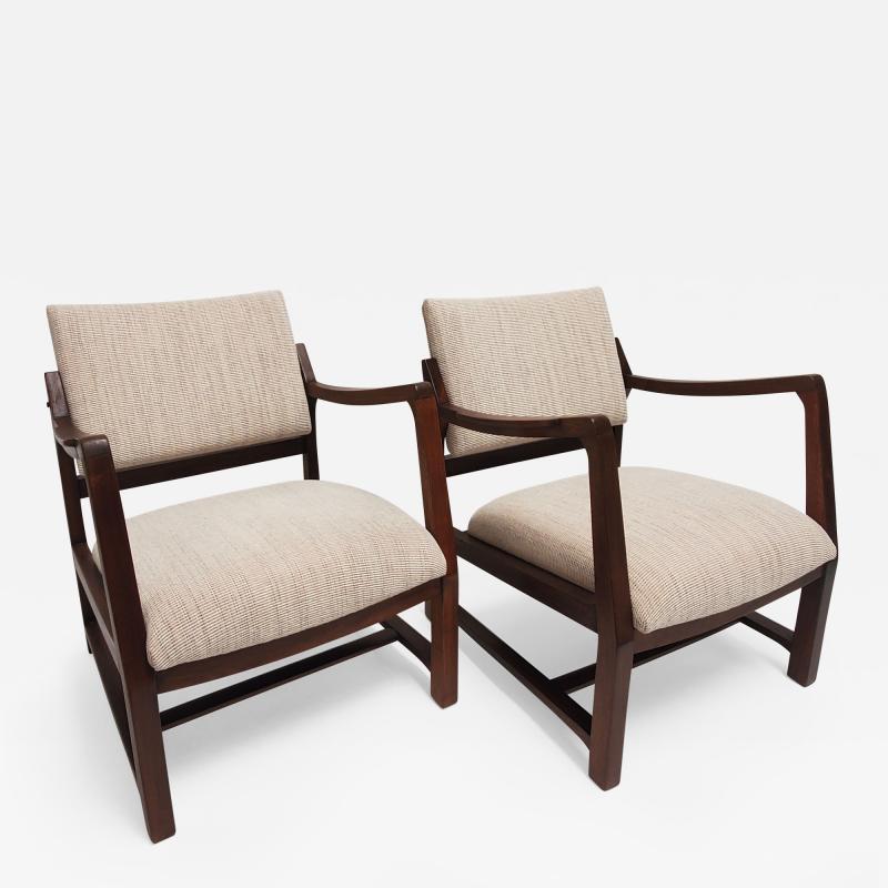 Edward Wormley Ed Wormley Open Arm Chairs for Dunbar
