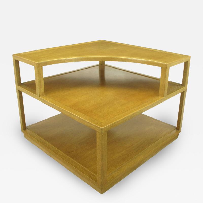 Edward Wormley Edward Wormley Bleached Mahogany Corner Table for Dunbar