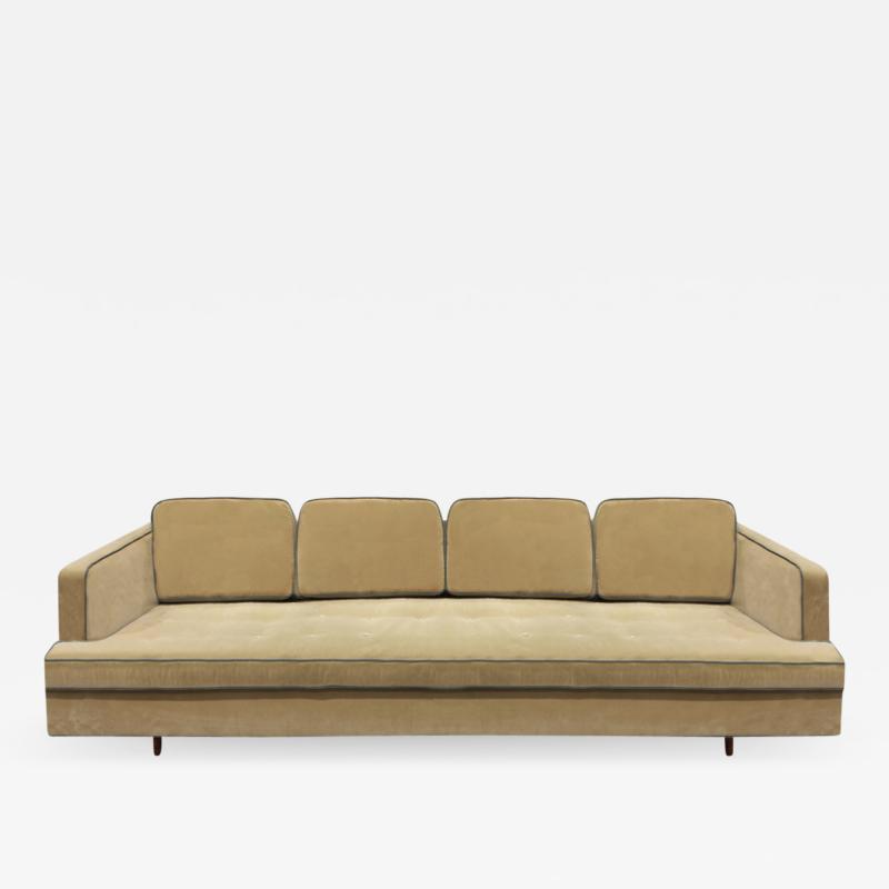Edward Wormley Edward Wormley Elegant Sofa with Mahogany Legs 1950s