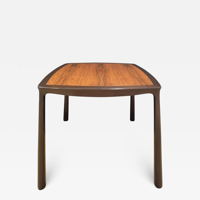 Edward Wormley Edward Wormley Game Table in Ebonized Mahogany with Rosewood Top 1963 Signed