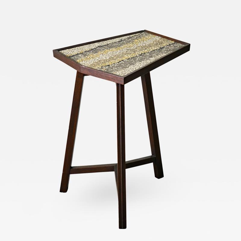 Edward Wormley Edward Wormley Glass Mosaic Top Occasional Table