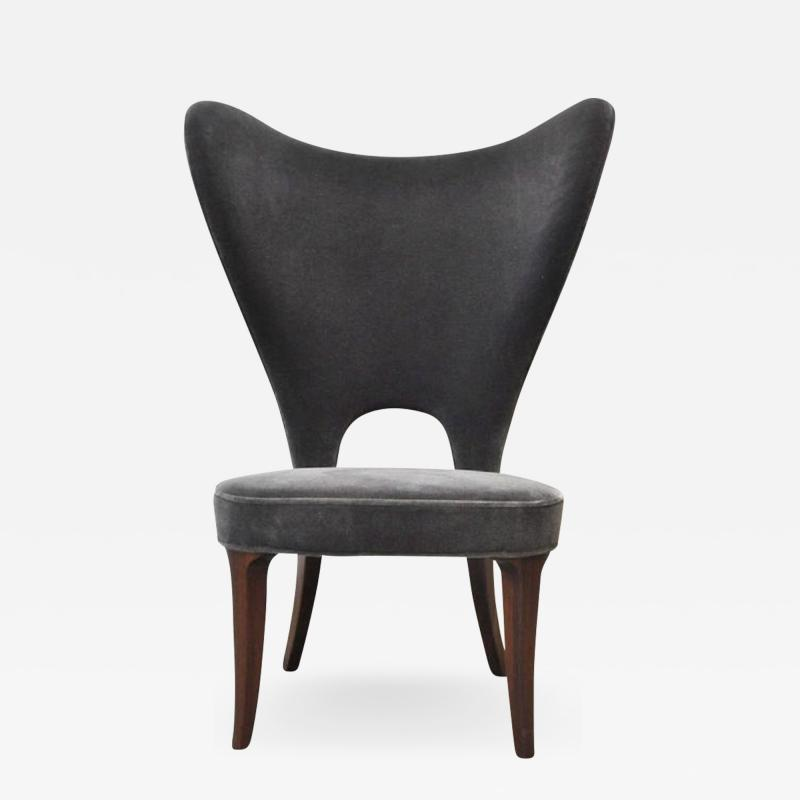 Edward Wormley Edward Wormley Heart Chair Wingback for Dunbar