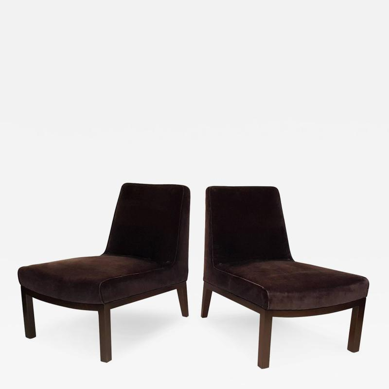 Edward Wormley Edward Wormley Slipper Chairs for Dunbar