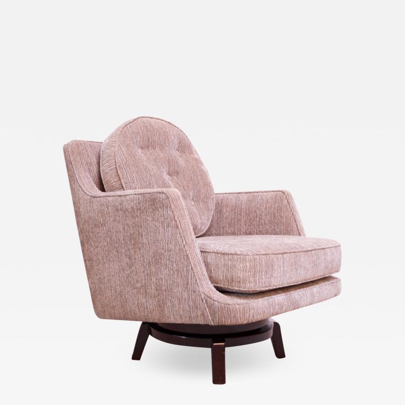 Edward Wormley Edward Wormley for Dunbar Revolving Lounge Chair in Mahogany