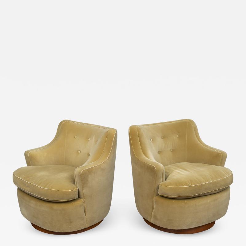 Edward Wormley Edward Wormley for Dunbar Swivel Chairs