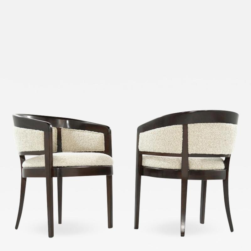 Edward Wormley Pair of Armchairs in Wool Boucl by Edward Wormley