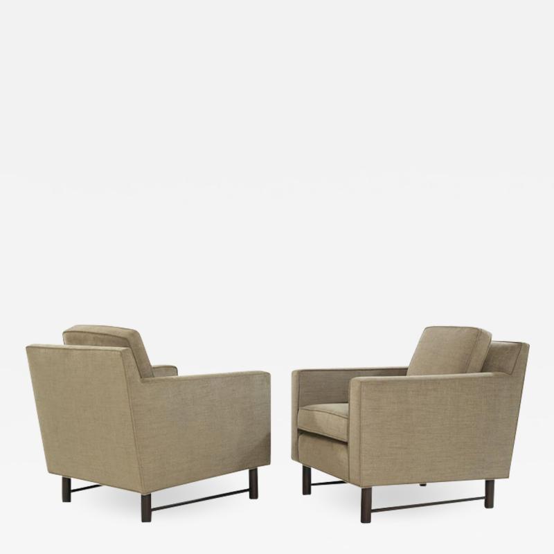 Edward Wormley Pair of Club Chairs by Edward Wormley for Dunbar circa 1950s