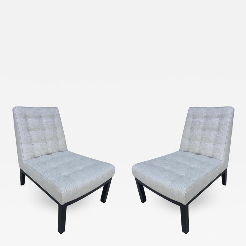 Edward Wormley Pair of Dunbar Edward Wormley Slipper Chairs