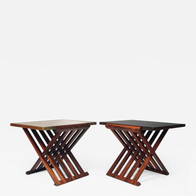 Edward Wormley Pair of Edward Wormley Savonarola Occasional Tables for Dunbar Model 5425