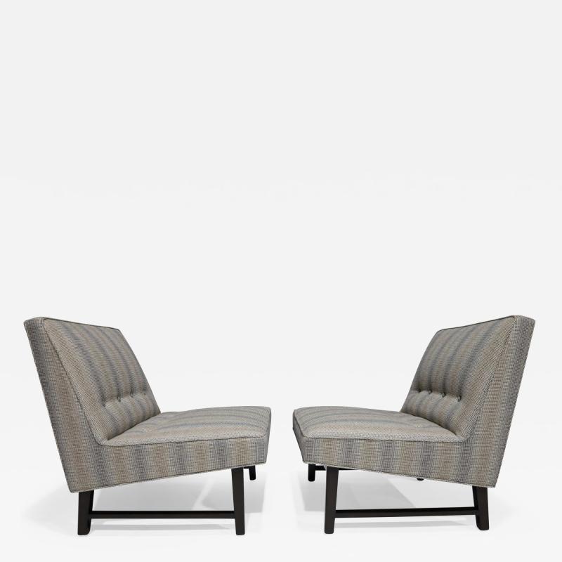 Edward Wormley Pair of Edward Wormley for Dunbar Slipper Chairs