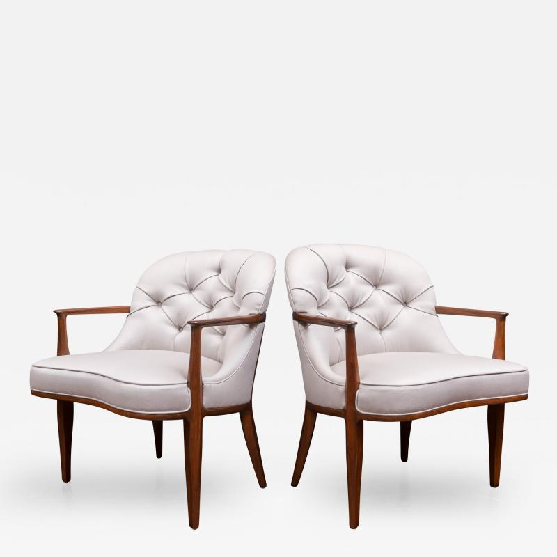 Edward Wormley Pair of Janus Lounge Chairs by Edward Wormley for Dunbar