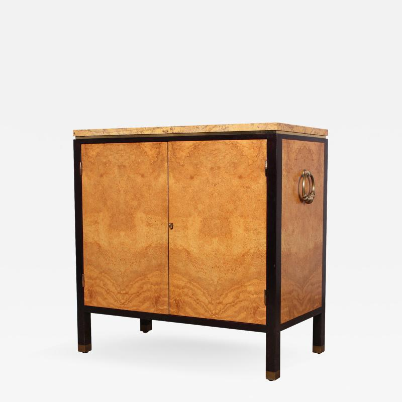 Edward Wormley Rare Olive Burl Cabinet by Edward Wormley for Dunbar