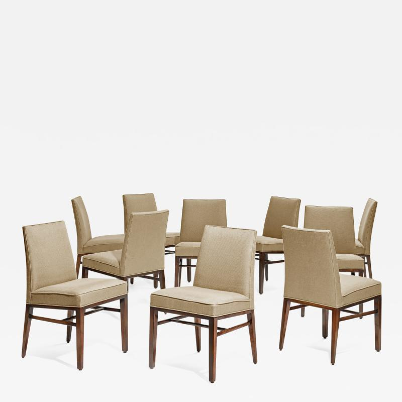 Edward Wormley Set of 10 dining room chairs by Edward J Wormley for Dunbar USA 1950s