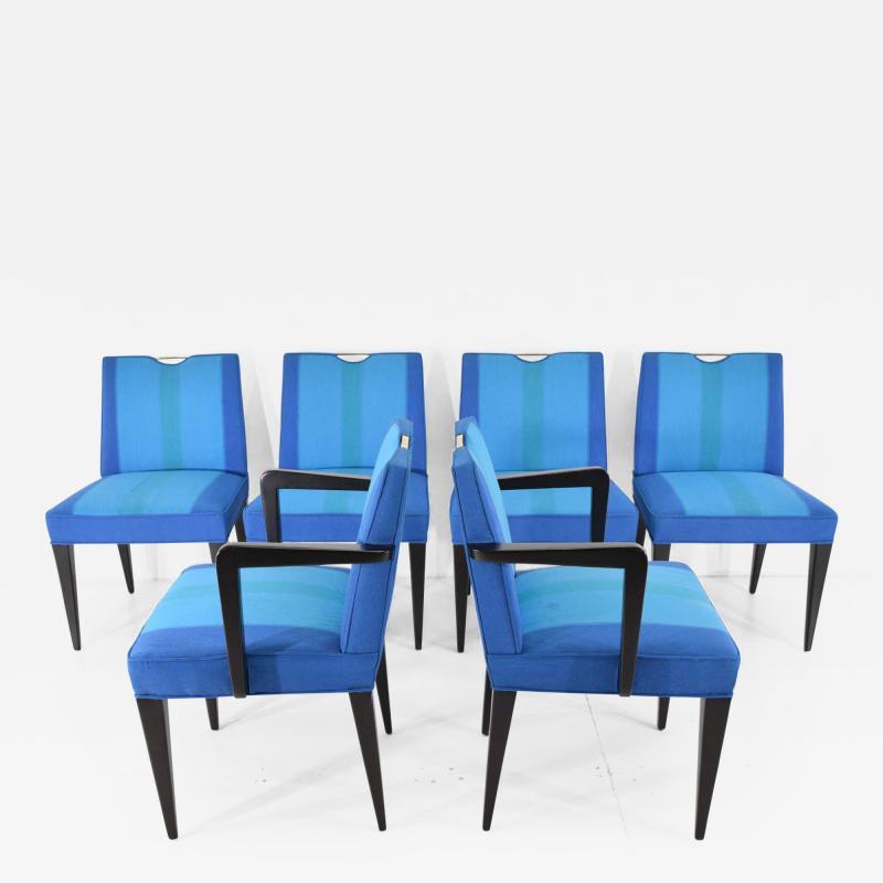 Edward Wormley Set of Six Edward Wormley for Dunbar Dining Chairs