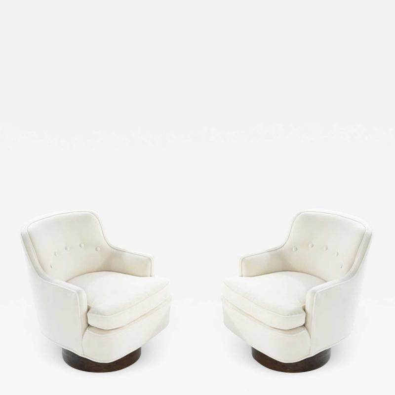 Edward Wormley Swivel Chairs in Mohair by Edward Wormley for Dunbar circa 1950