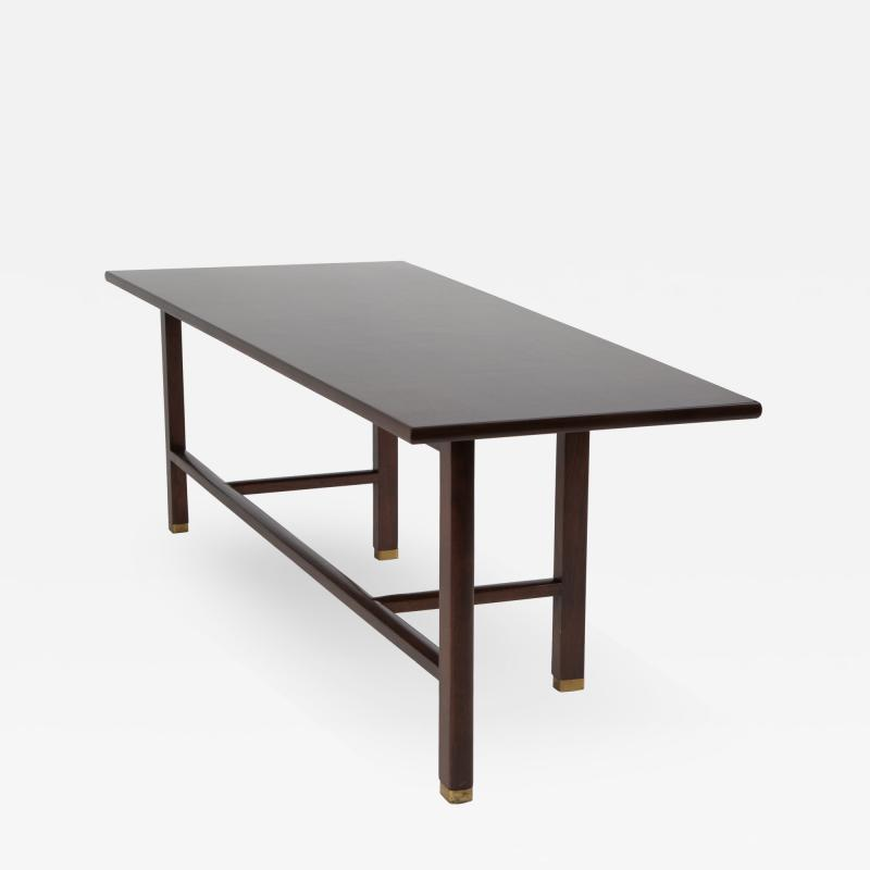 Edward Wormley Trapezoidal Walnut Coffee Table by Edward Wormley for Dunbar Circa 1950s