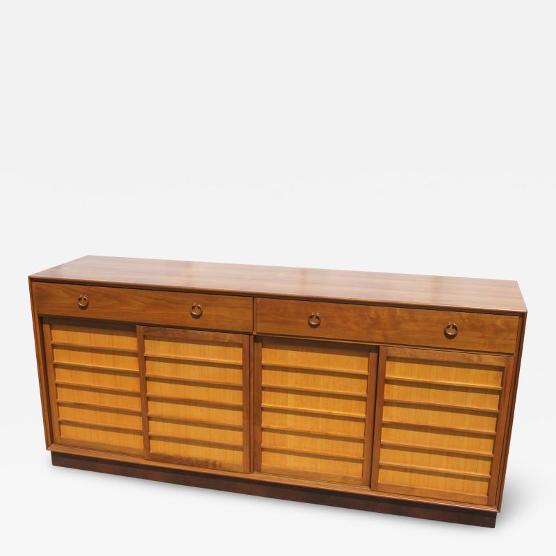Edward Wormley Walnut Japanese Fir Sideboard by Edward Wormley for Dunbar