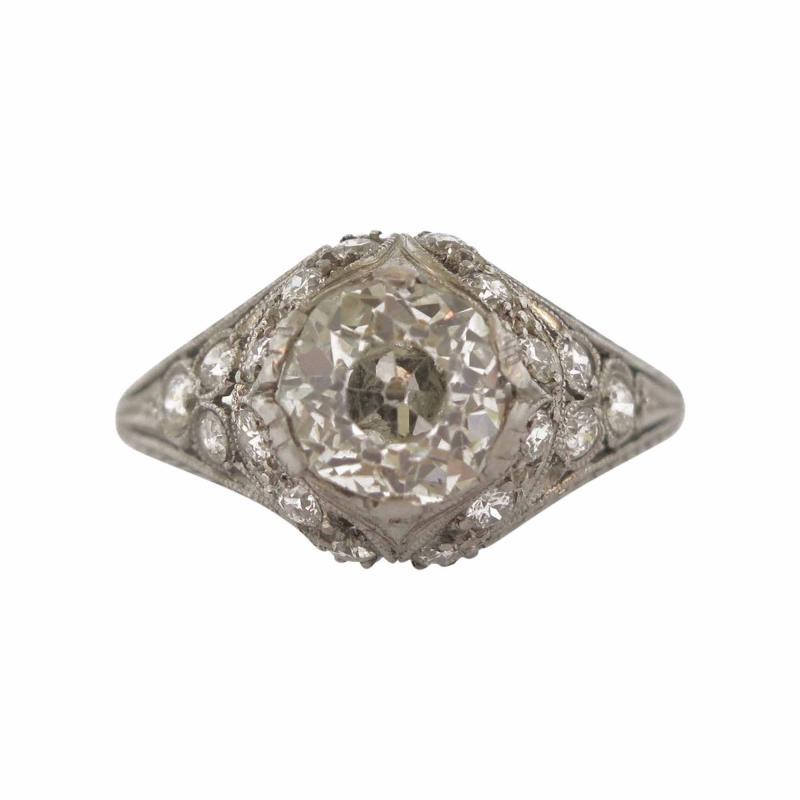 Edwardian Diamond Filigree Ring