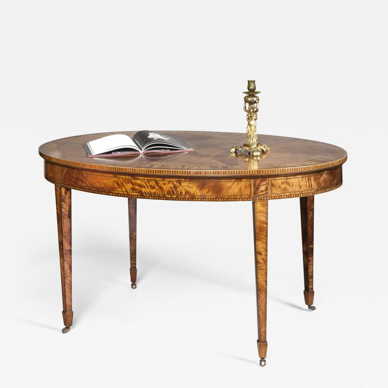 Edwards Roberts Antique Sheraton Revival Centre Center Table of Generous Proportions