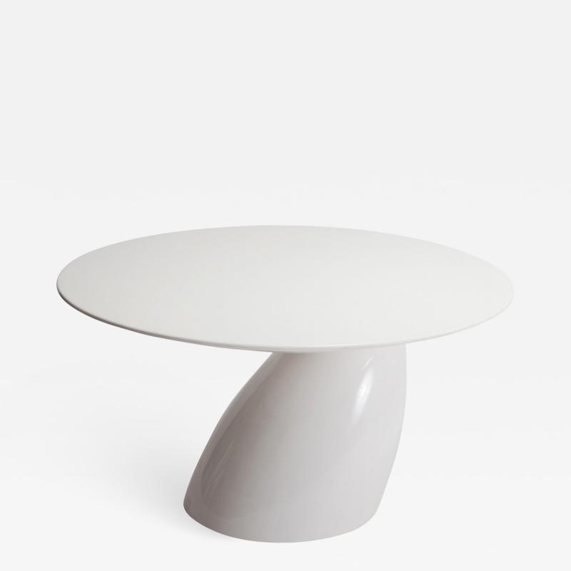 Eero Aarnio White Dining Table Parabel Eero Aarnio 2000 s