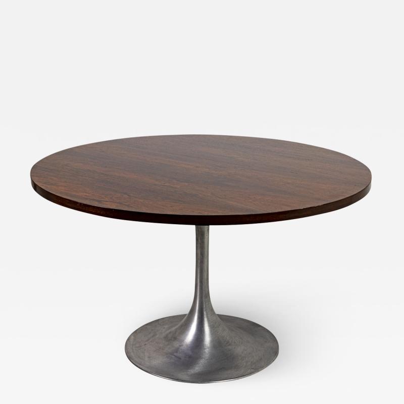 Eero Saarinen Eero Saarinen Tulip Table in rosewood and brushed aluminum 1956