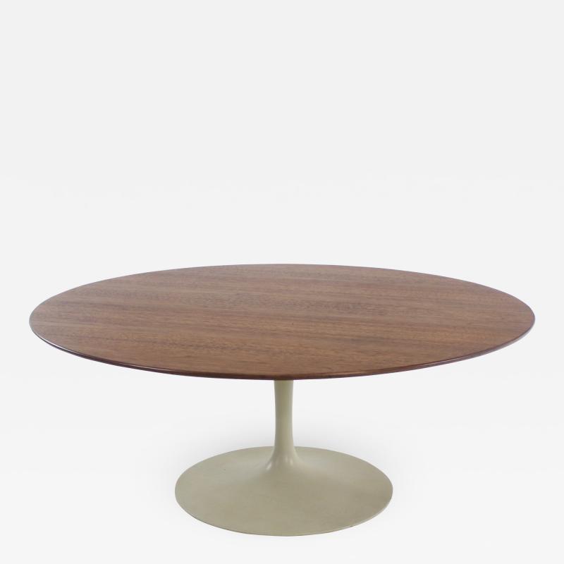 Eero Saarinen Mid Century Modern Walnut Top Coffee Table by Eero Saarinen for Knoll
