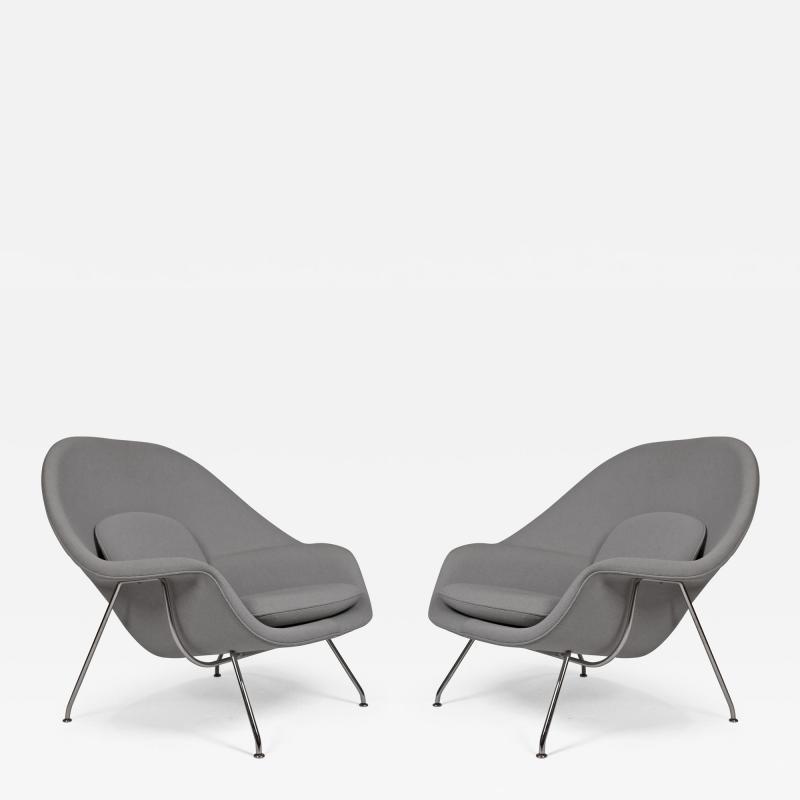Eero Saarinen Pair of Knoll Womb Chairs Designed by Eero Saarinen